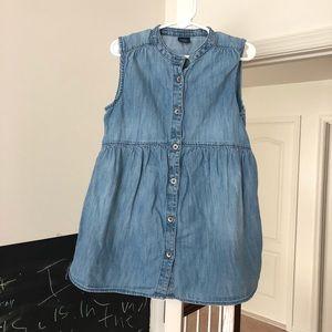 Gap Kids Girls Denim Sleeveless Shirt, Size M